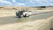Un Surface Miner extrae piedra caliza en Francia